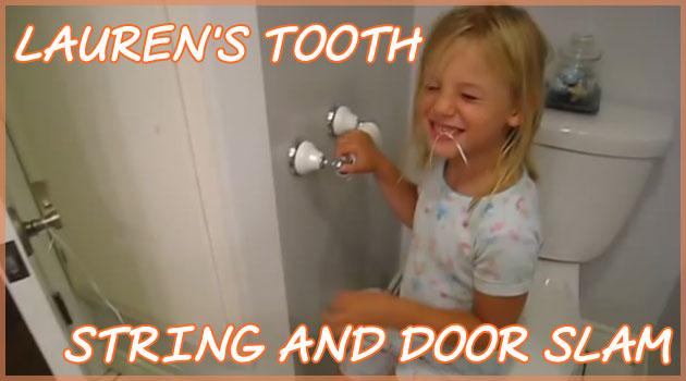 歯の抜き方が半端じゃない!ドアノブと歯を結びつける少女