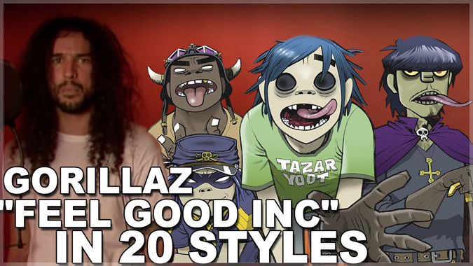 ゴリラズの名曲「Feel Good Inc」を20のスタイルでカバーしたクールな演奏!