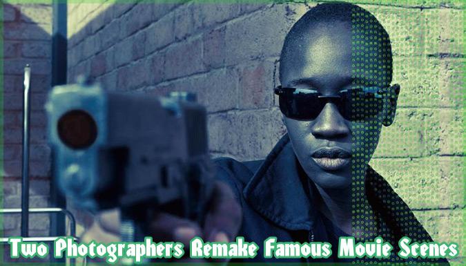 有名なハリウッド映画のシーンをアフリカで再現した写真作品