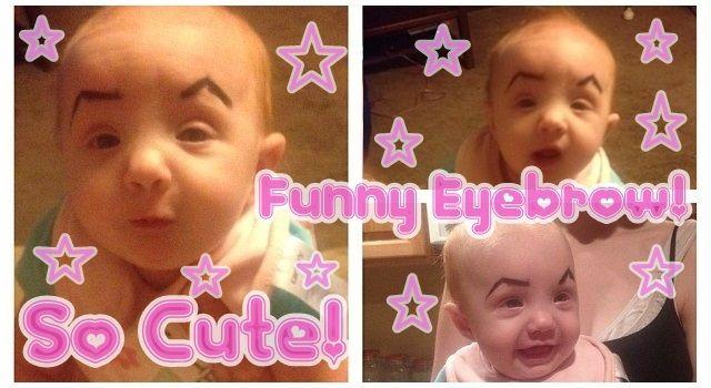 赤ちゃんの顔に落書きをする海外で流行りのミーム!?