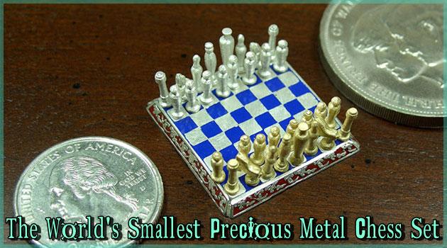 ダイヤモンドや貴金属で作られた世界最小のチェスセット!