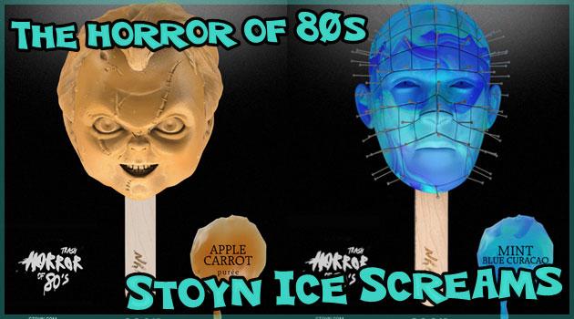 80年代の有名ホラー映画をモチーフにしたアイススクリーム