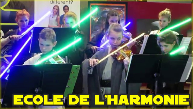 ライトセーバーでヴァイオリンを演奏するカナダの子どもたち!
