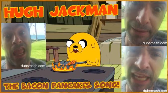 ヒュー・ジャックマンがジェイクのベーコンパンケーキをモノマネ!