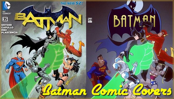 バットマンのコミックの表紙をカートゥーン調で描き直したイラスト集