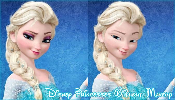 もしもディズニープリンセスが化粧を落としたら?すっぴんのお姫様!
