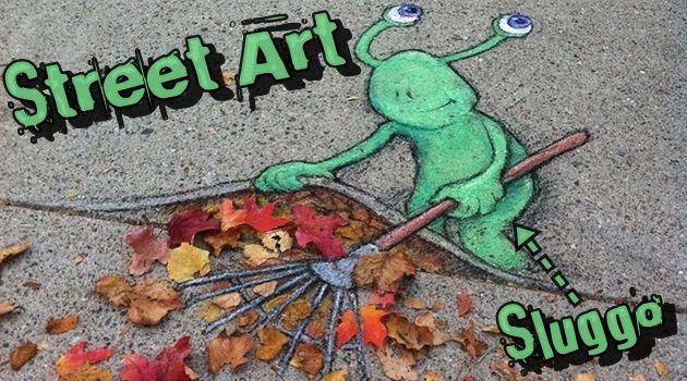 周囲の環境を巧みに利用した美しいストリートアート作品!