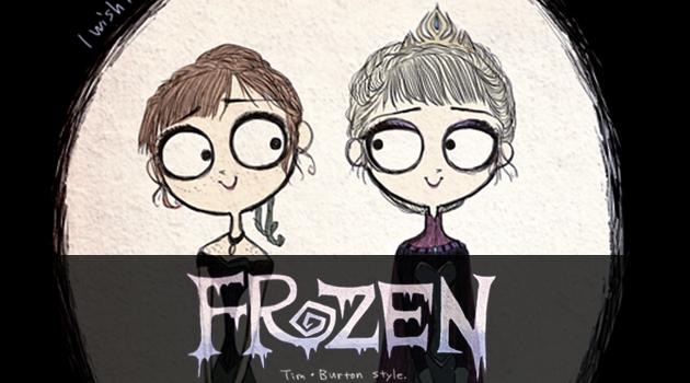 もしもアナと雪の女王がティム・バートンの世界観だったら?