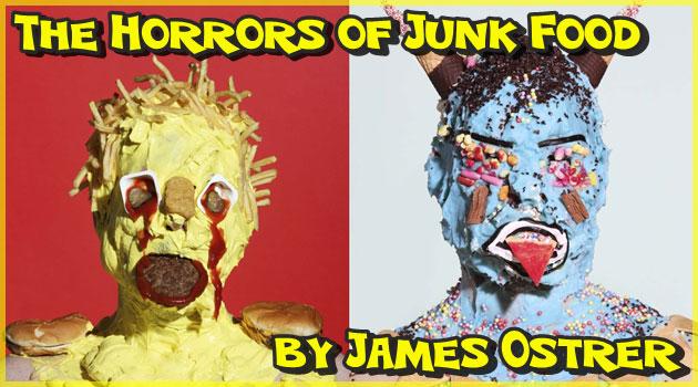 不健康食品の恐怖を描いたジャンクフードモンスター