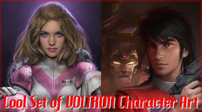 ボルトロンのキャラクターを描いたリアルなイラスト集