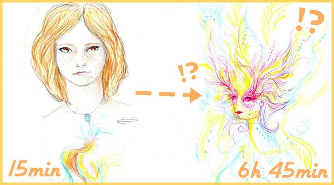幻覚剤LSDを服用した女性が描いた11枚の自画像がヤバいと話題に!