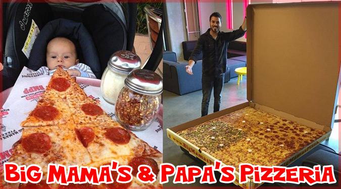 世界で最も大きなピザを宅配するアメリカのピザ屋さん