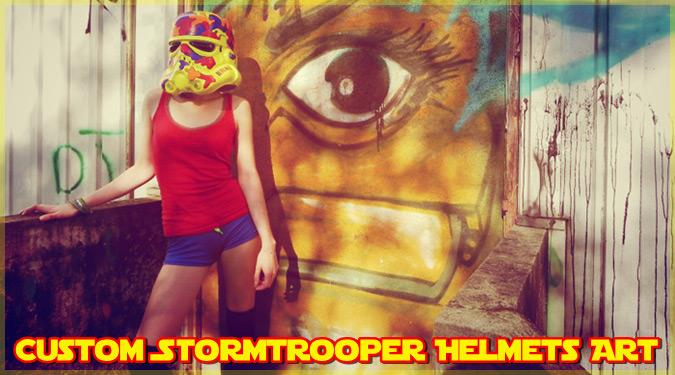 ストーム・トルーパーのヘルメットをカラフルにしたアート作品!