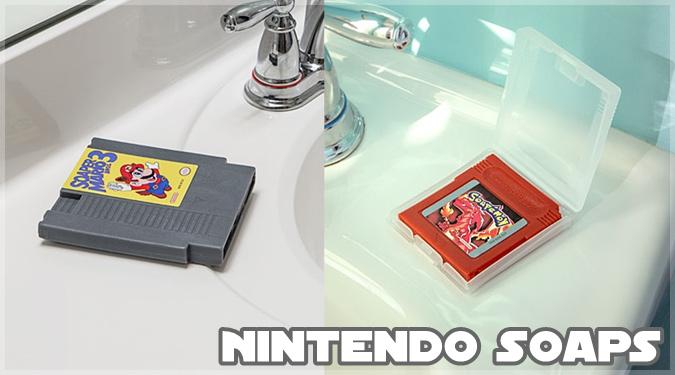 任天堂の懐かしいゲームソフトを石鹸にしたユニークなアイテム!