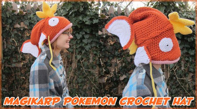 ポケモンのコイキングをモチーフにした可愛らしいニット帽!