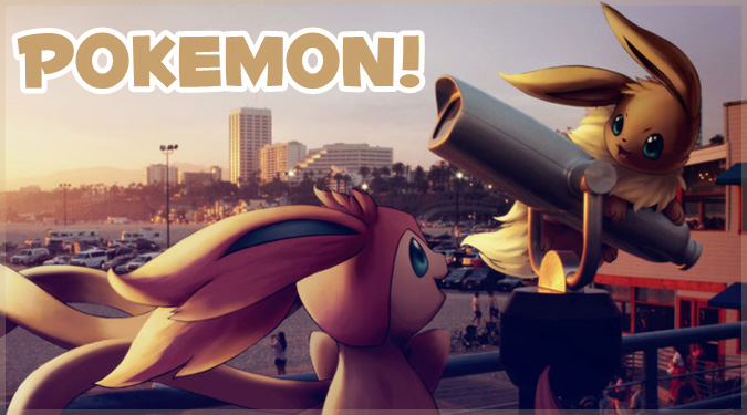 現実の世界にポケモンを加えた可愛いアートシリーズ!