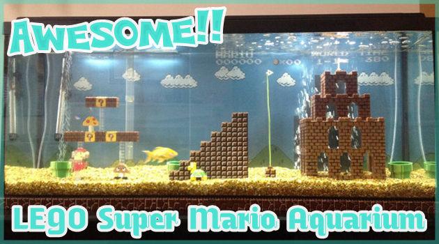レゴで制作されたスーパーマリオの水槽が美しい!