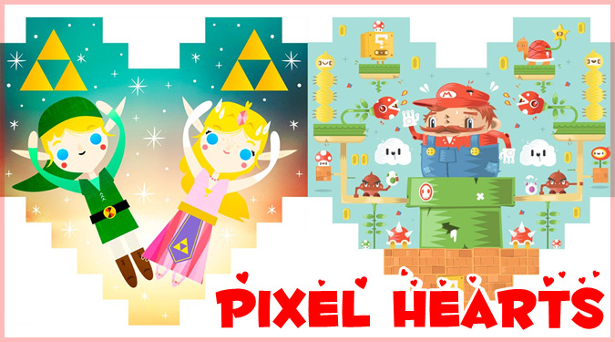 アーティストたちによる人気ゲームへのトリビュート作品集「Pixel Hearts」