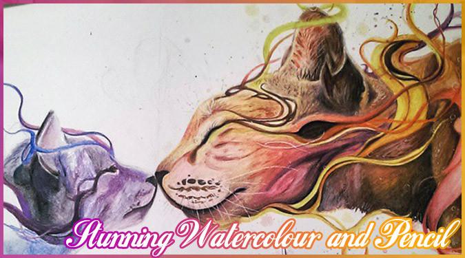絵を独学で覚えた17歳のアーティストによる美しいイラスト作品!