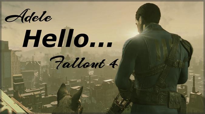 Fallout4の映像にAdeleのHelloの替え歌を乗せたパロディ動画!