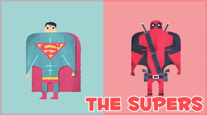 2つのテンプレートだけで描いたスーパーヒーローたちのゆるカワ作品集