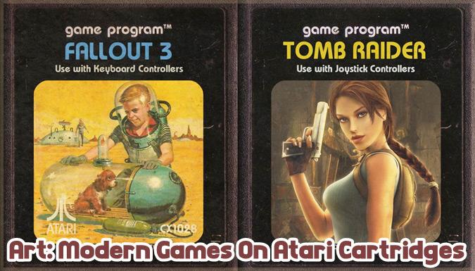 現代の人気ゲームをアタリのゲームカートリッジとして描いた作品集