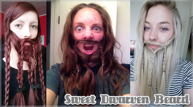 自分の髪で髭を作る海外で流行中のドワーフ女子たち!
