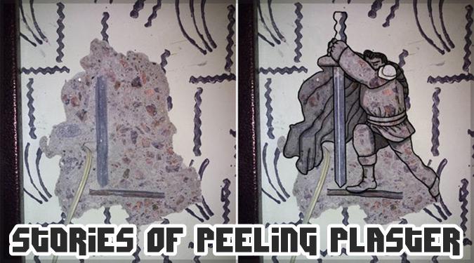 剥がれた壁や傷のある壁から描いた素敵なストリートアート集