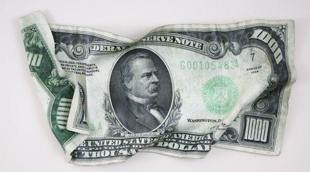 しわくちゃな紙幣を精巧に再現したハイパーリアルアート!