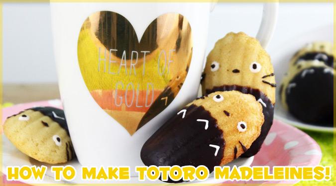 自宅で簡単に作れるキュートなトトロ・マドレーヌの作り方!