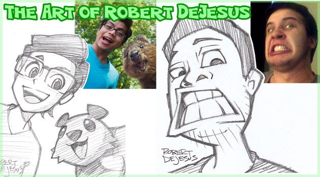 人物写真を漫画スタイルの肖像画として描いたイラスト作品