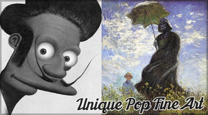 歴史的絵画にポップカルチャーを取り入れたユニークな作品
