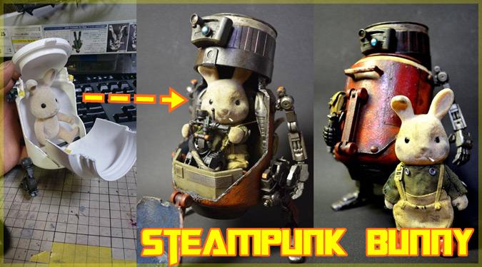 シルバニアファミリーのウサギさんがスチームパンクのスタイルに変身!