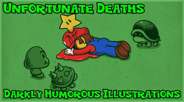 人気キャラクターの不幸な死を描いたブラックユーモア作品