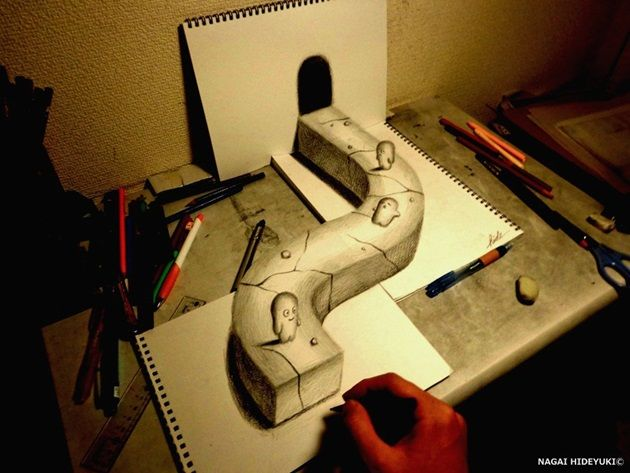 3d_drawing___world_of_illusion_by_nagaihideyuki-d78beo7