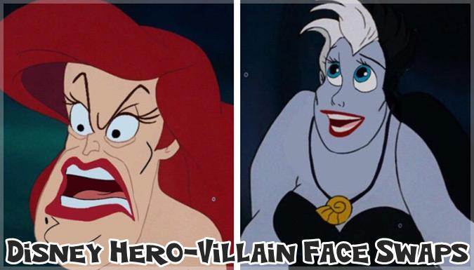 ディズニーヒーローとヴィランズの顔を入れ替えた爆笑画像集