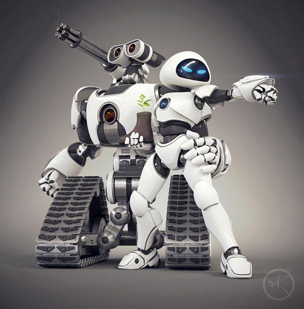 wall-e-and-eve-advanced-robots-3d-art