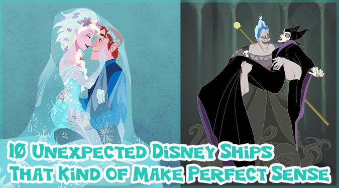 ディズニーキャラクターで夢のカップリングを描いたセンス抜群のイラスト集