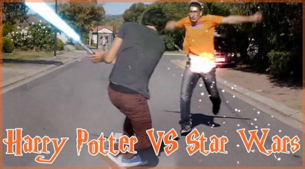 ハリーポッターVSスター・ウォーズを現実で再現した人気動画