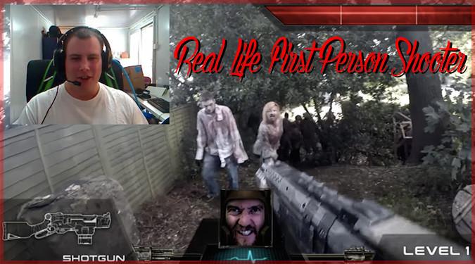 現実世界で再現したゾンビFPSゲームのプレイ動画!