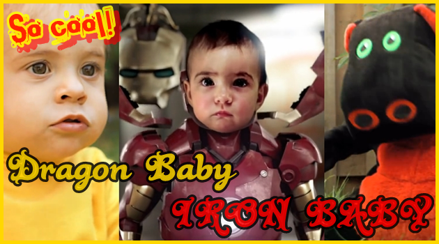 ブルース・リーやアイアンマンに変身!赤ちゃんが主役の面白い動画