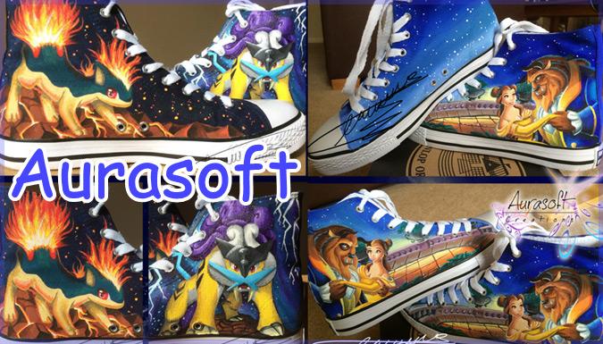 靴アーティストによるポップカルチャーをテーマにした素敵なシューズ