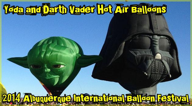 ヨーダとダース・ベイダーの大迫力のスター・ウォーズ気球!