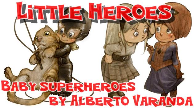 スーパーヒーローが赤ちゃん化?小さな英雄を描いたイラスト集!