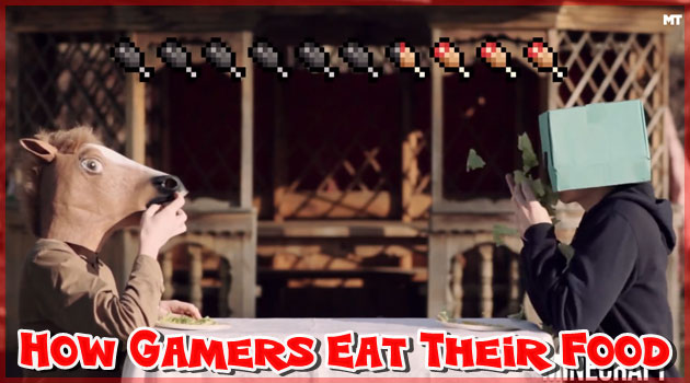 有名なゲームキャラクターたちの食事シーンを再現!