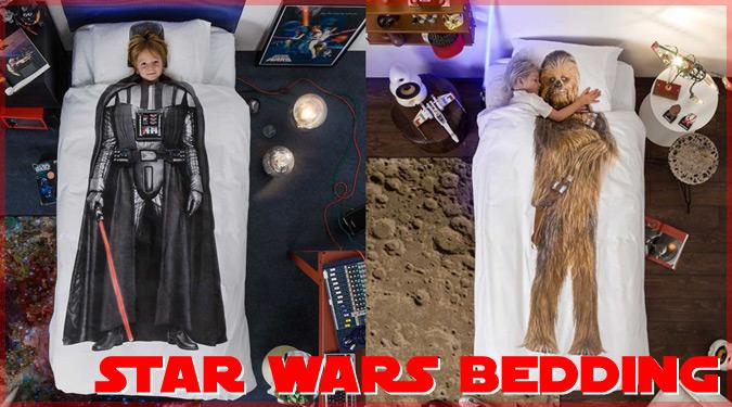 ダースベイダーとチューバッカの寝具カバーセットが面白い!