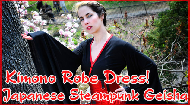 着物をスチームパンクスタイルに仕上げた可愛いデザイン