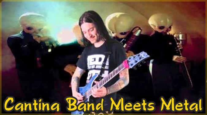 スターウォーズのカンティーナバンドをメタル風に再現したギタリスト