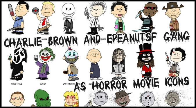 チャーリー・ブラウンと仲間たちがホラーキャラクターにコスプレ!?
