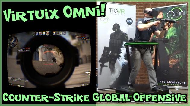 ルームランナー型VRデバイスを使用したCS:GOのプレイ動画